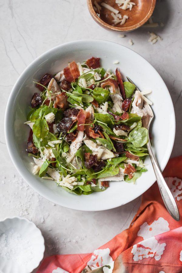 Chicken Bacon Cheddar Date Salad Recipe