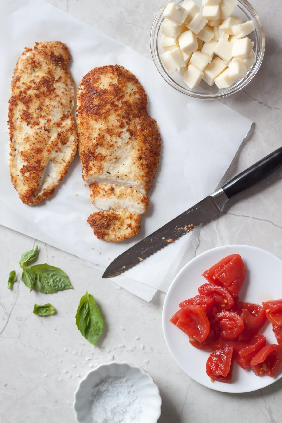 Parmesan Crusted Chicken Caprese Salad Recipe   A Spruced Up Caprese Salad  Made With Arugula,
