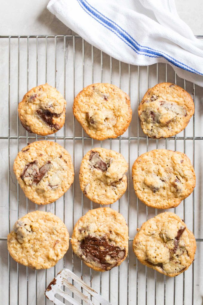 Chewy Chocolate Chip Cookies with Coconut and Medjool Dates - These chocolate chip cookies are crispy on the outside and extra chewy on the inside!