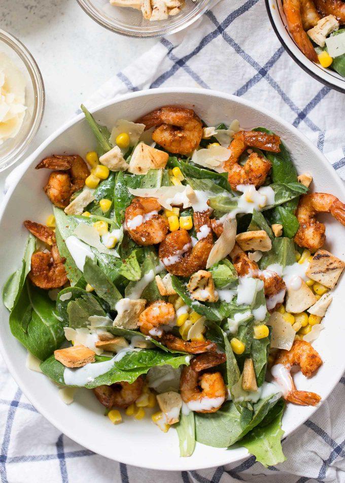 Southwestern Shrimp Caesar Salad Recipe