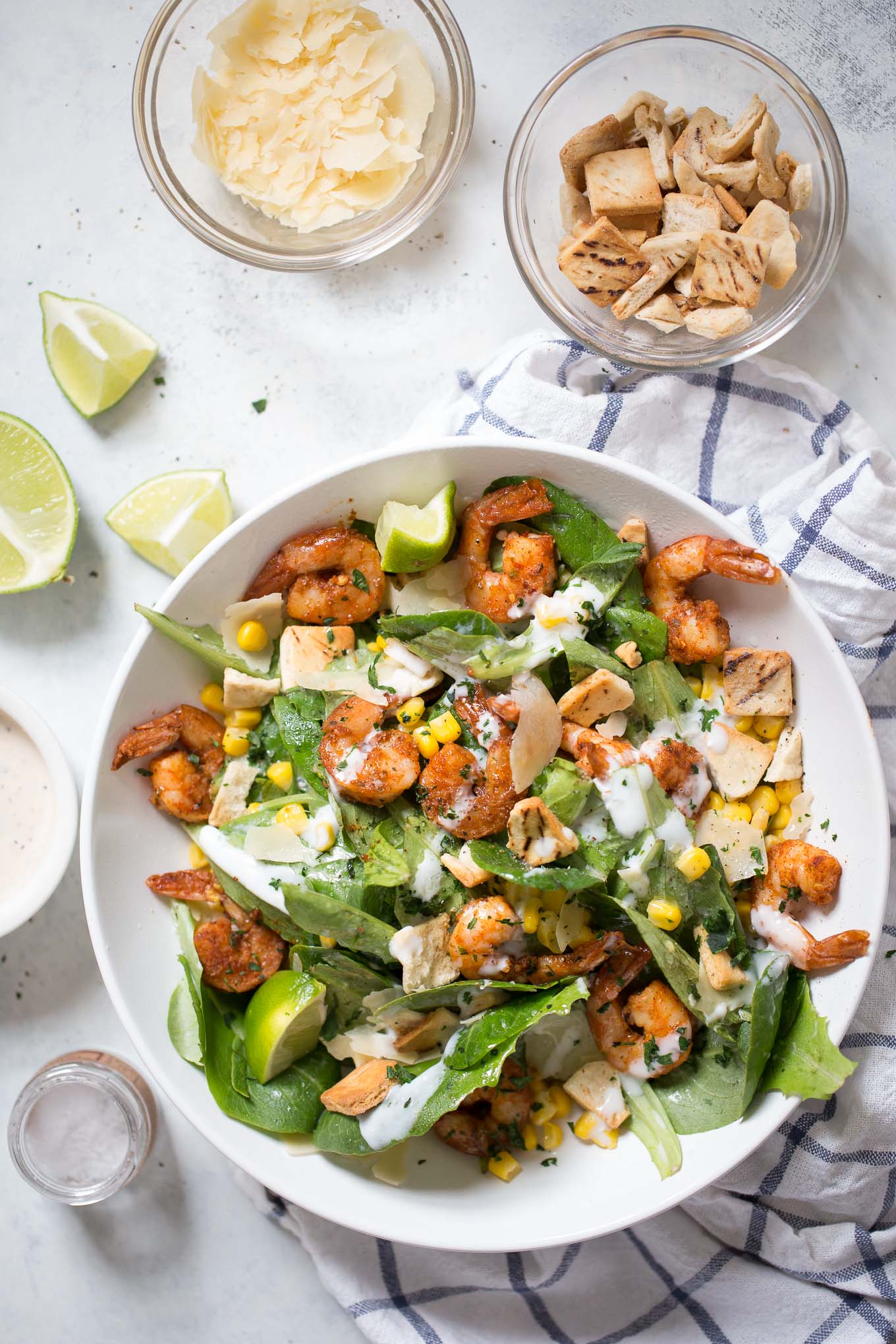 Southwestern Shrimp Caesar Salad Recipe