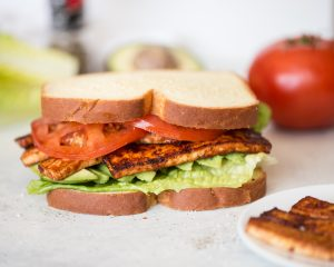 Loaded TLT - A Sandwich with Tofu, Lettuce, Tomatoes and Avocado!