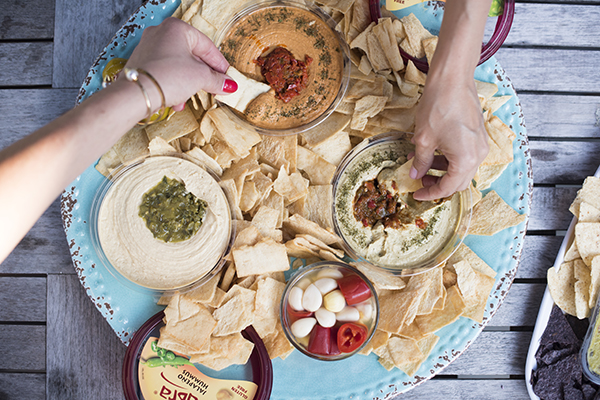 Hummus and Antipasti Platter (photo by Raul Velasco)