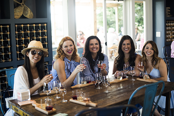 Gina, Heather, Andie, Liz, Lexi at Bedell Cellars (photo by Raul Velasco)