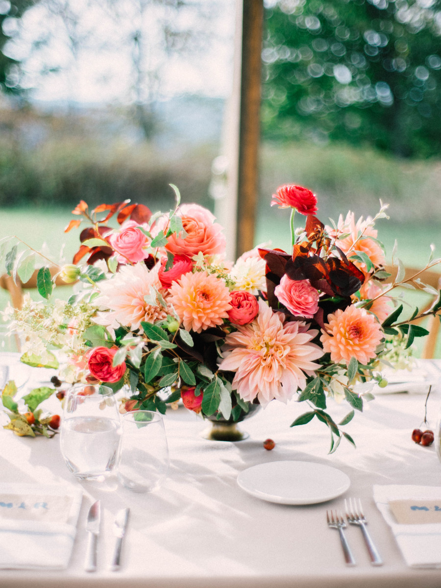 wedding flower inspiration - photo by mark trent photography