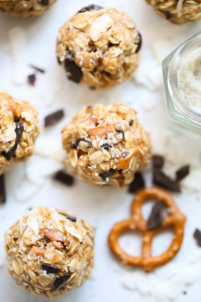 Coconut Chocolate Pretzel Balls