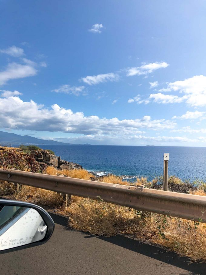 driving along the coast in maui hawaii