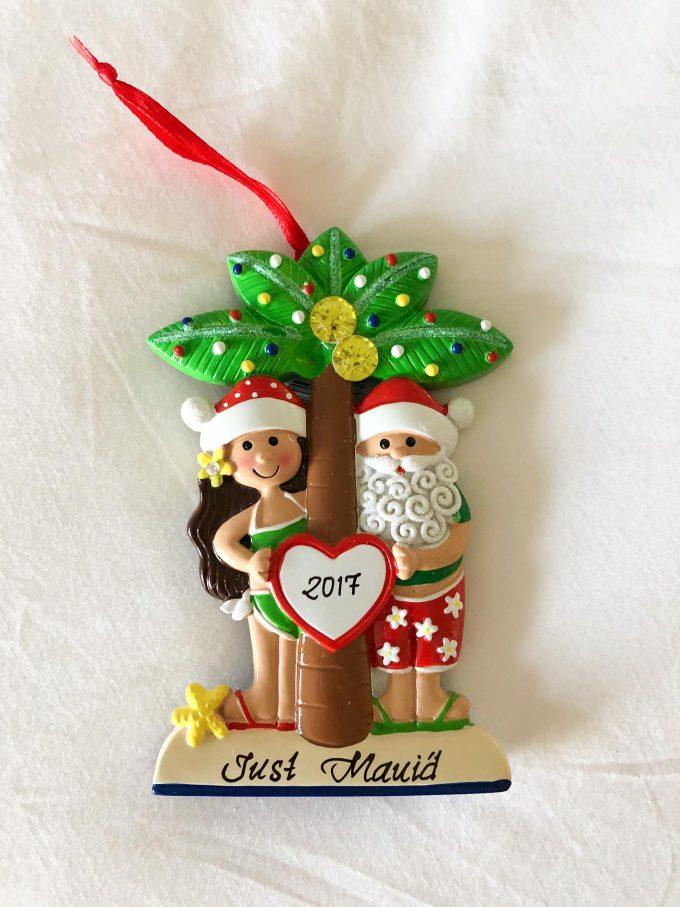 """Just Maui'ed"" Christmas ornament"