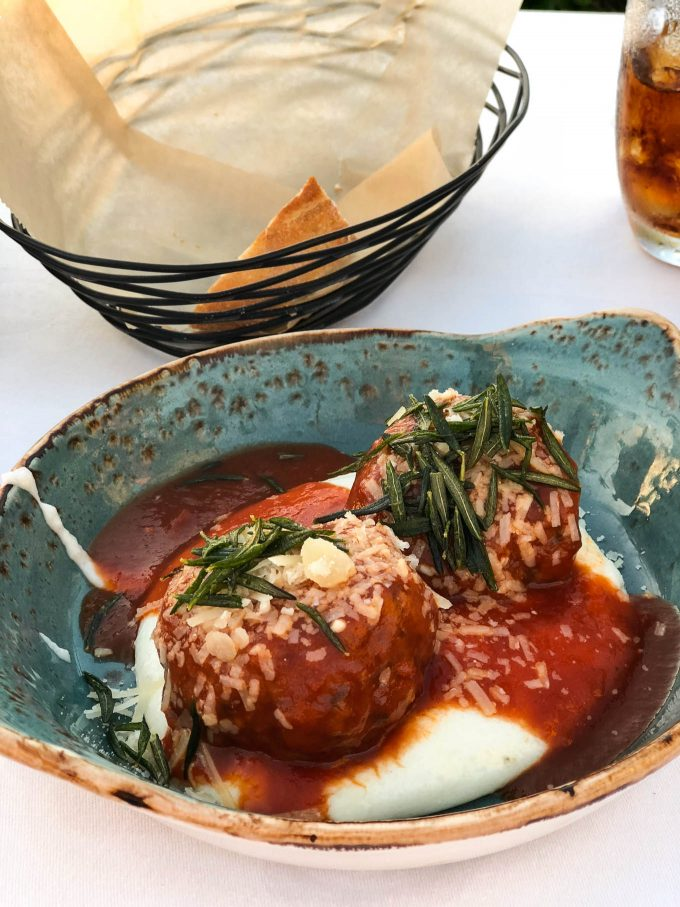 meatballs at ferraro's four seasons maui