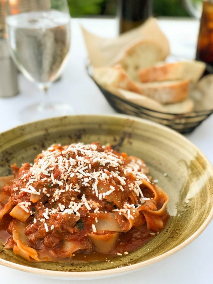 pasta with lamb ragu at ferraro's four seasons maui