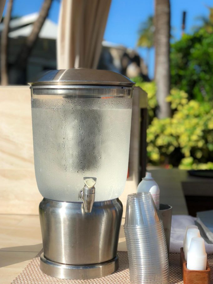 water stations at Four Seasons Maui