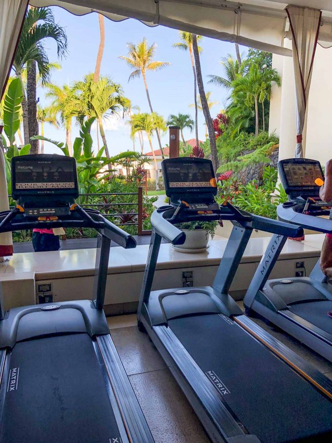 indoor outdoor fitness center at four seasons maui