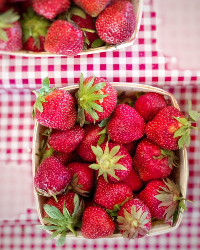 fresh strawberries from the farmers market