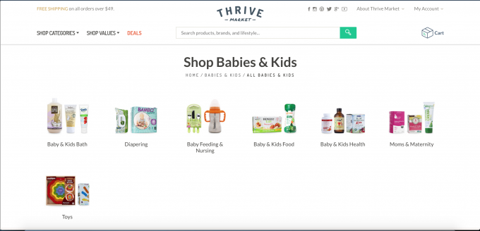 Thrive Market Baby and Kids Products