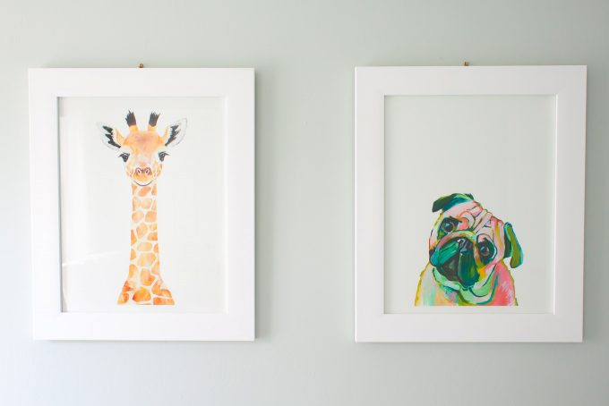 minted nursery art prints