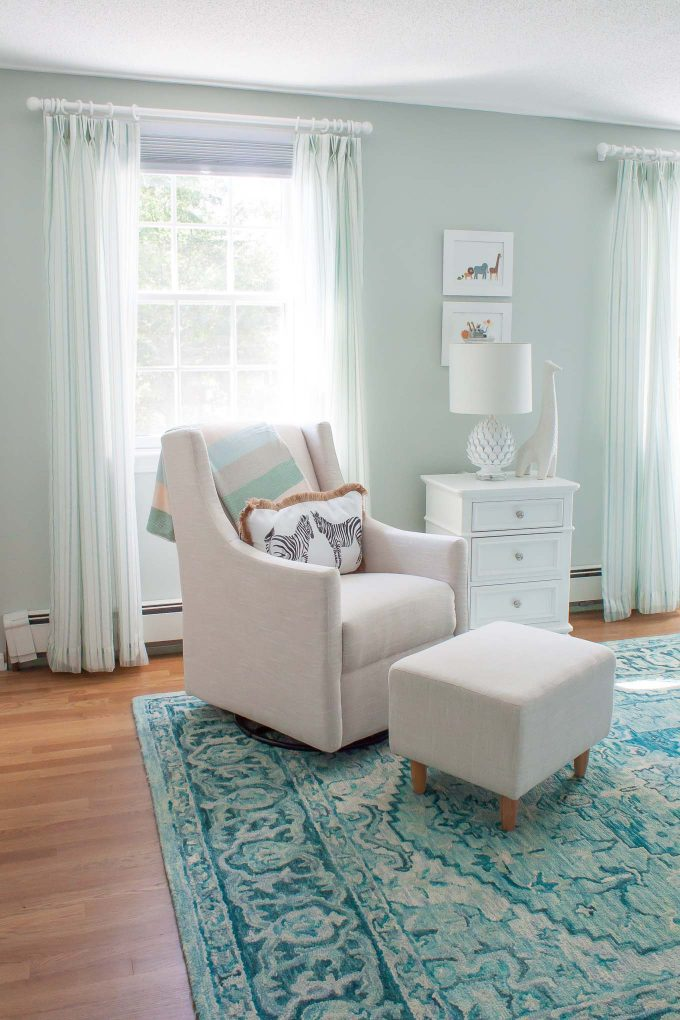 Our baby boy nursery -- bright with cool blues and greens
