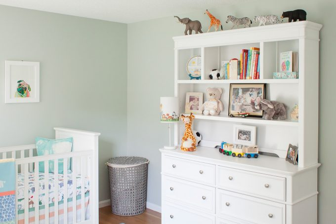 baby boy nursery with animal theme