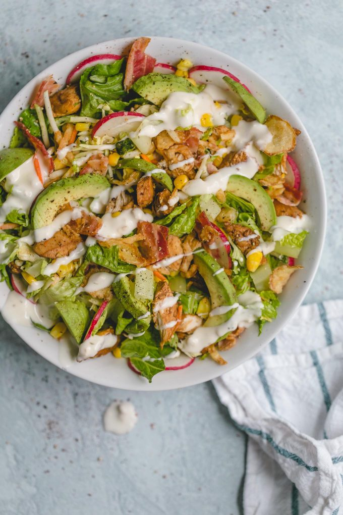 salad with chicken and bacon