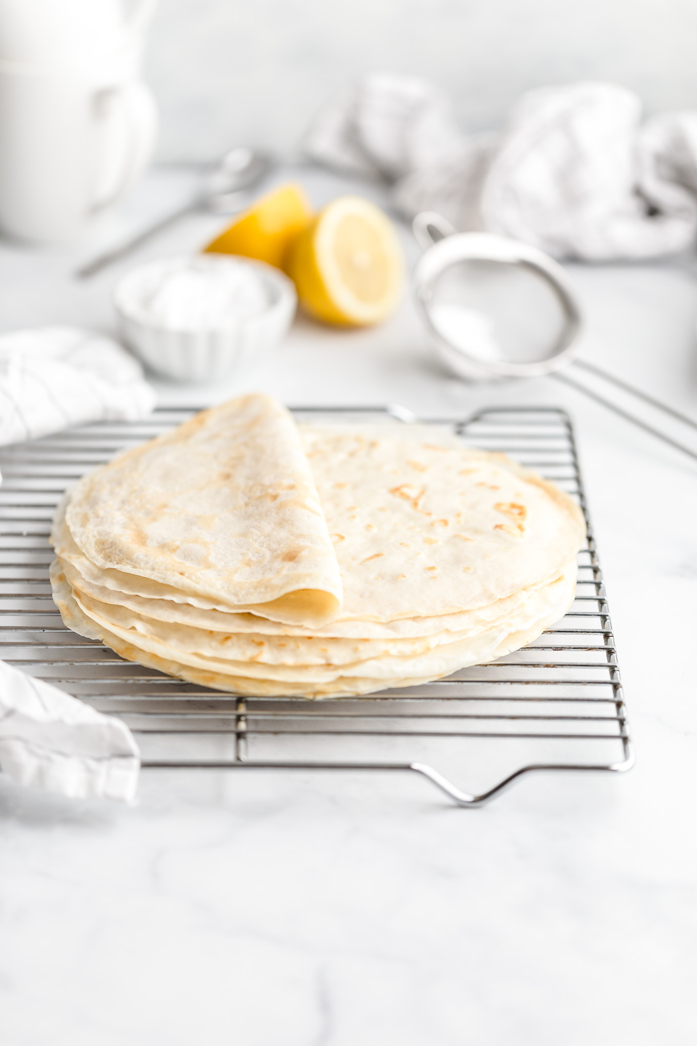 crepes before filling