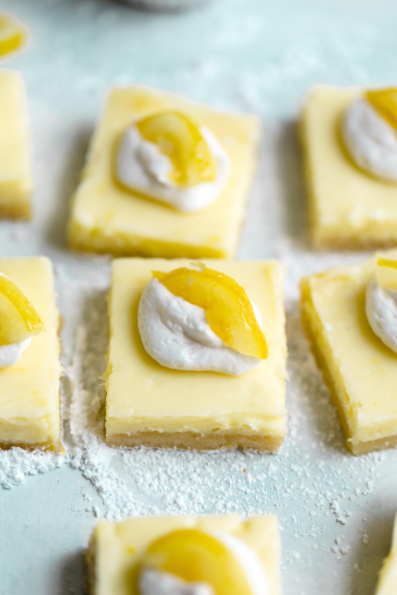 Lighter Lemon Cheesecake Bars