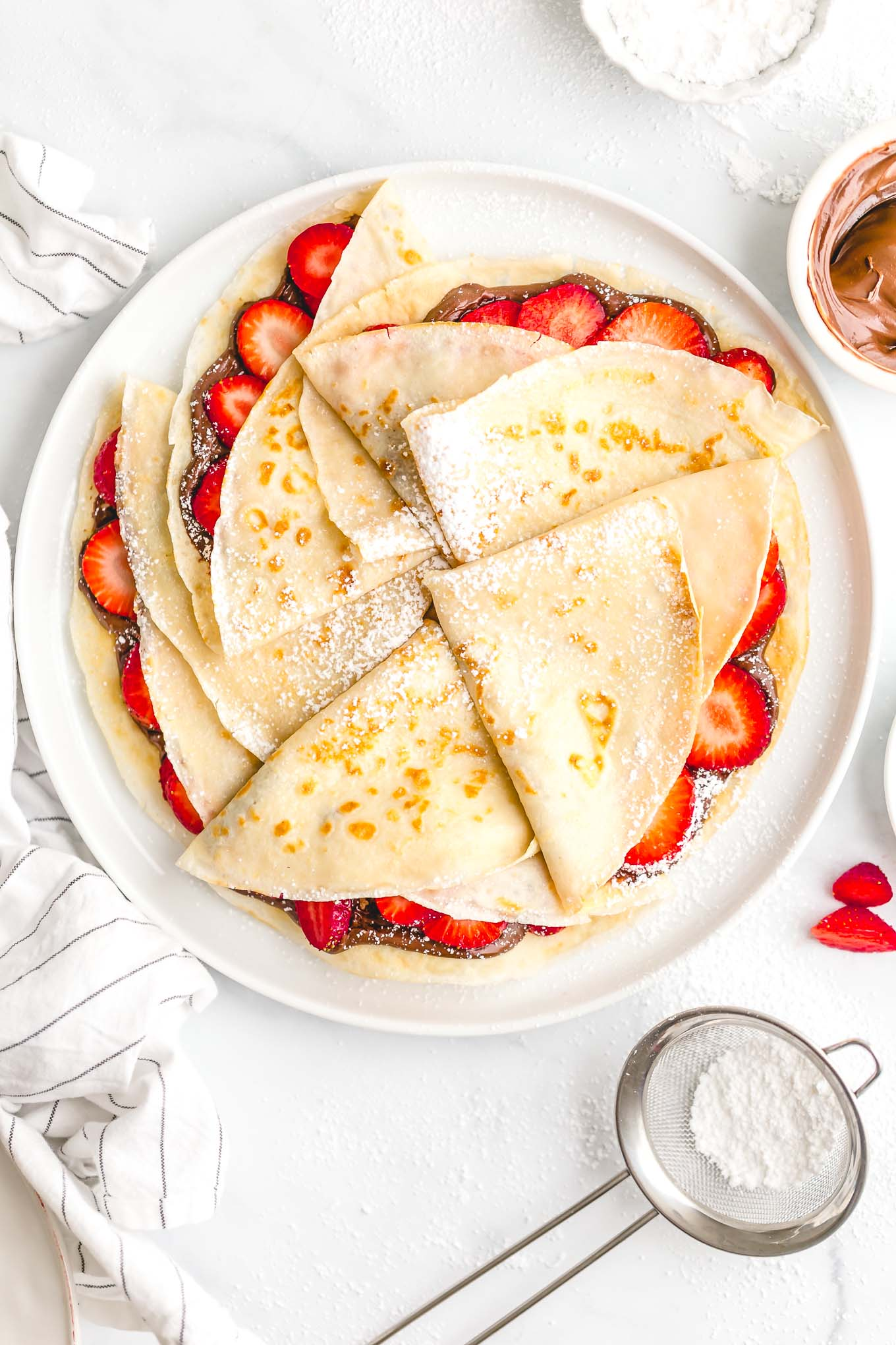 Strawberry Nutella Crepes Andie Mitchell