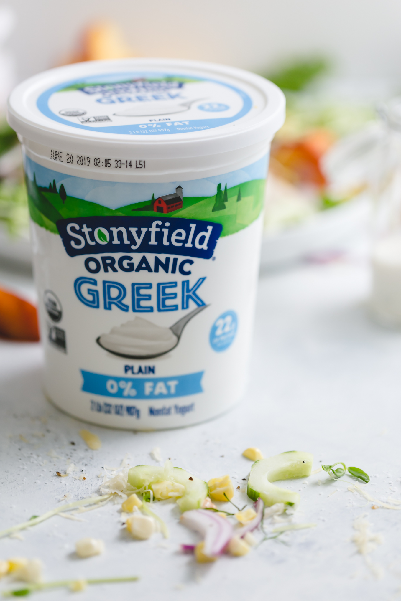 Stonyfield greek nonfat yogurt