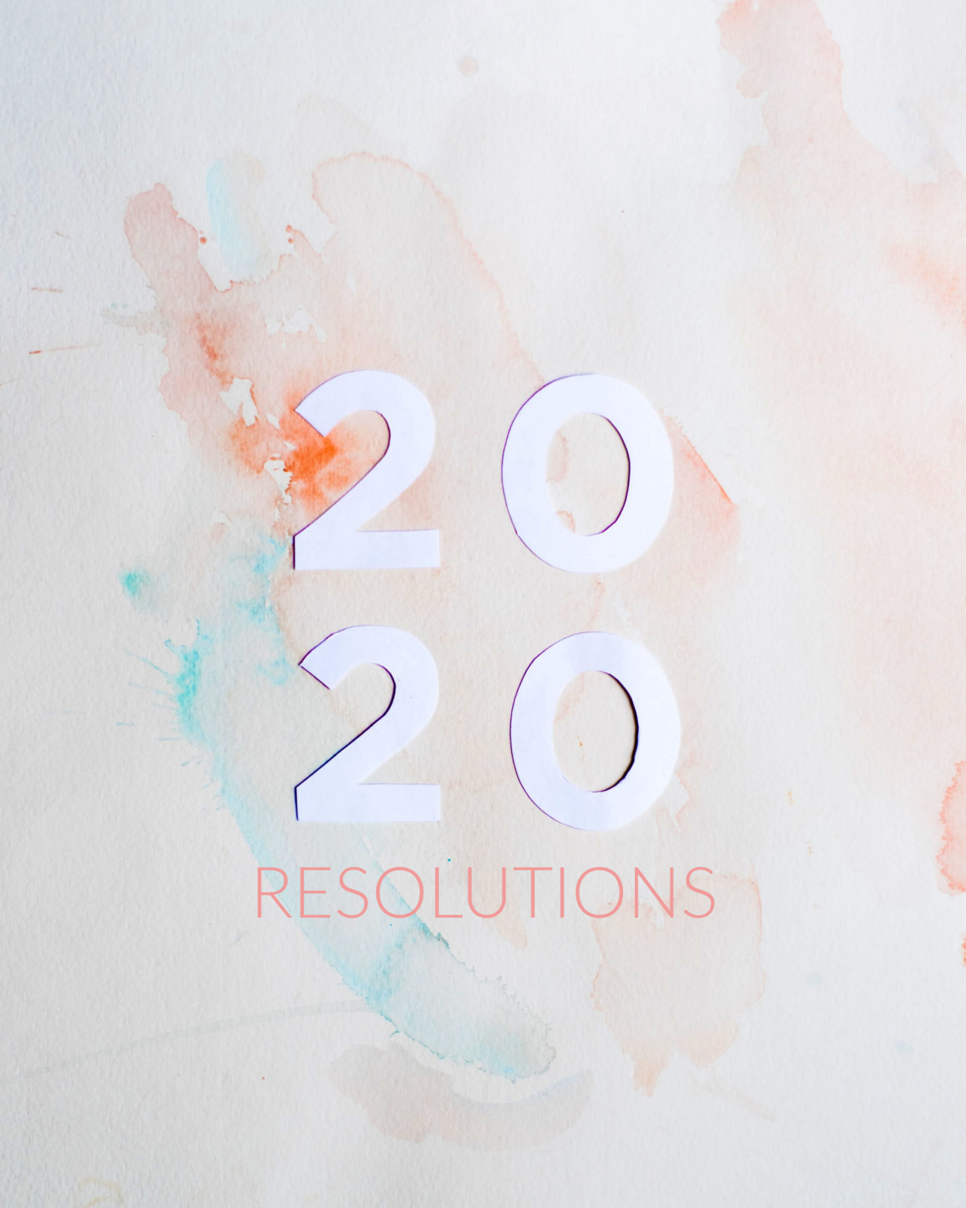 healthy resolutions for 2020