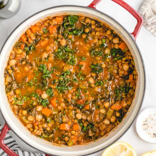 Vegetarian Moroccan Lentil and Chickpea Soup
