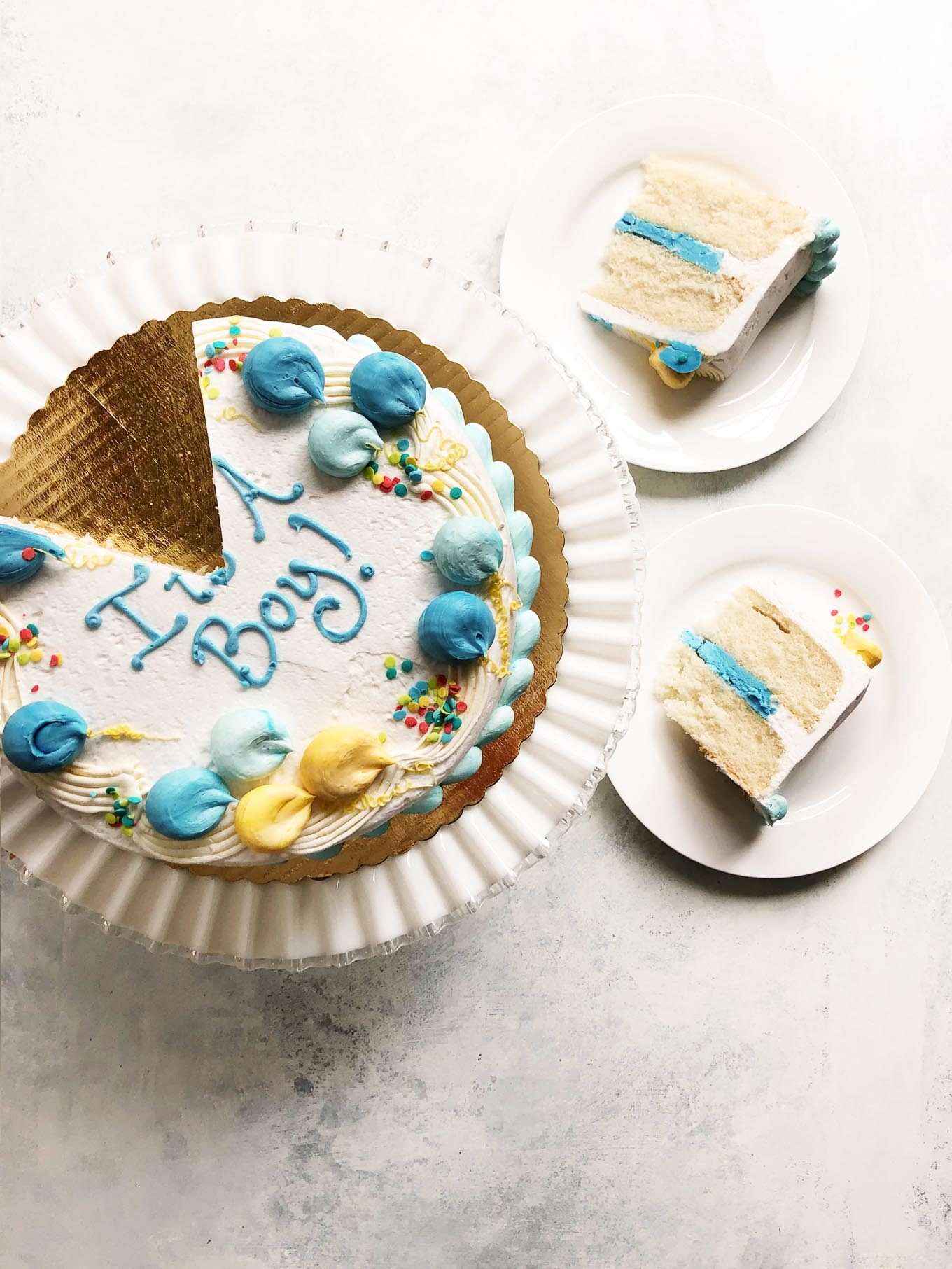 It's a Boy! gender reveal cake