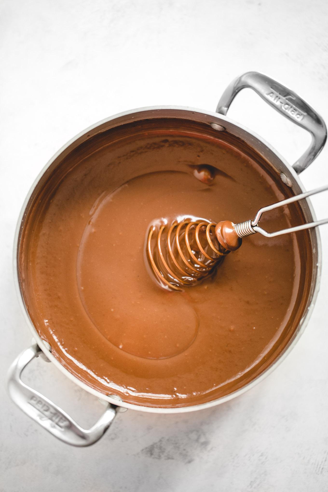 Chocolate Cream Pie with Pecan Crust 9