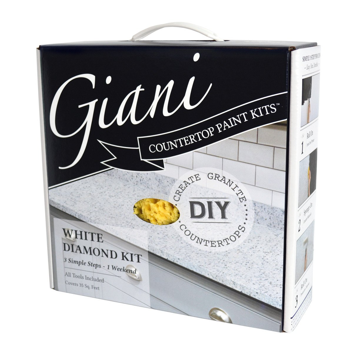 Giani White Diamond Countertop Paint Kit Swatch