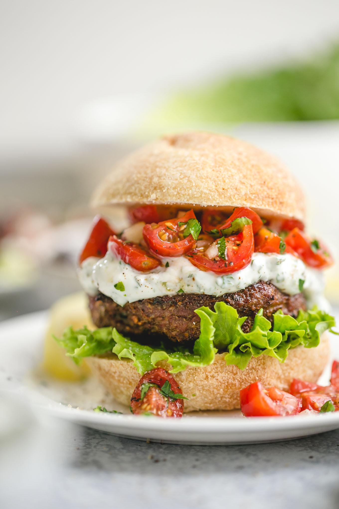 grilled lamb burgers recipe