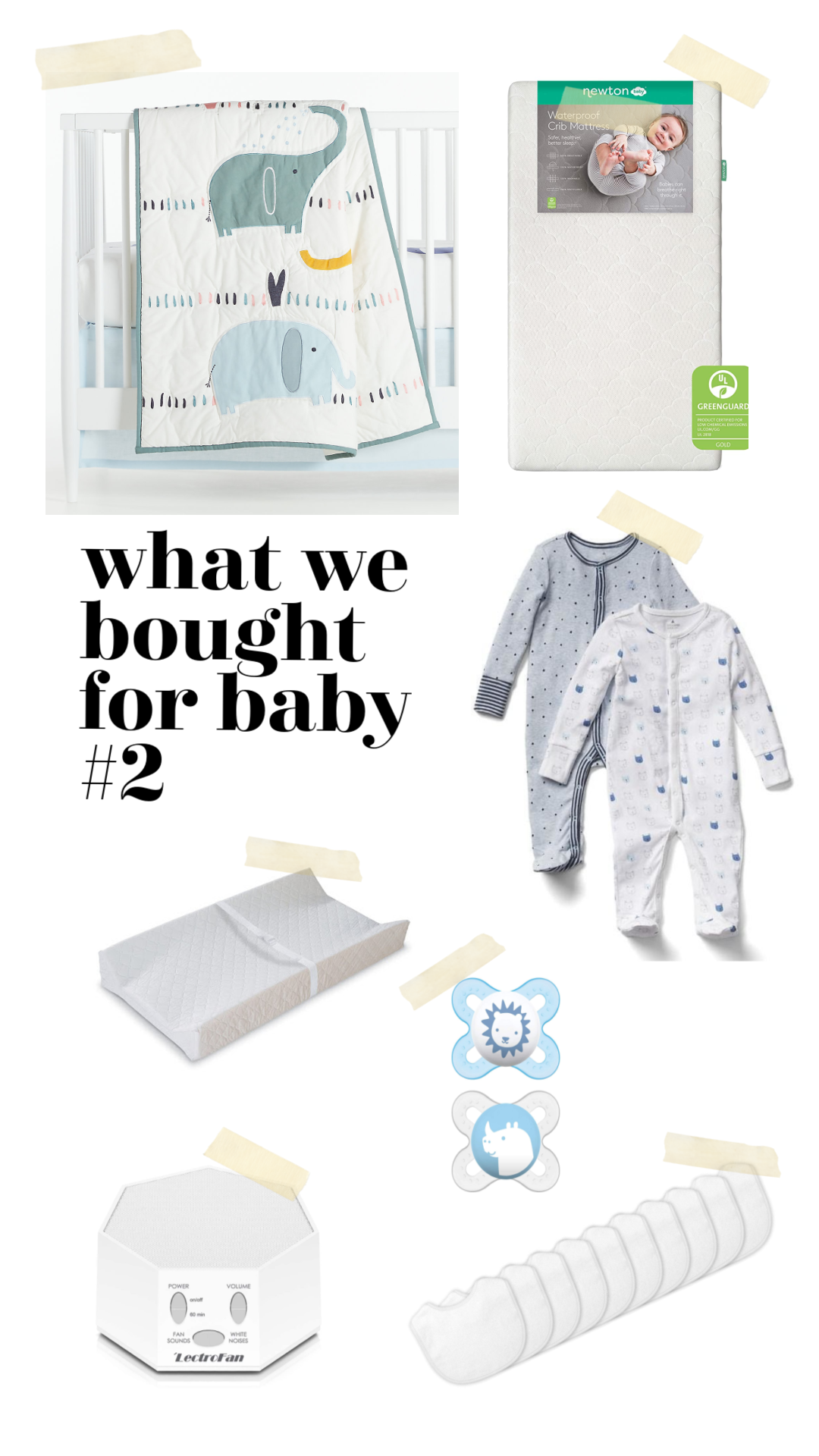 baby items to buy for second baby