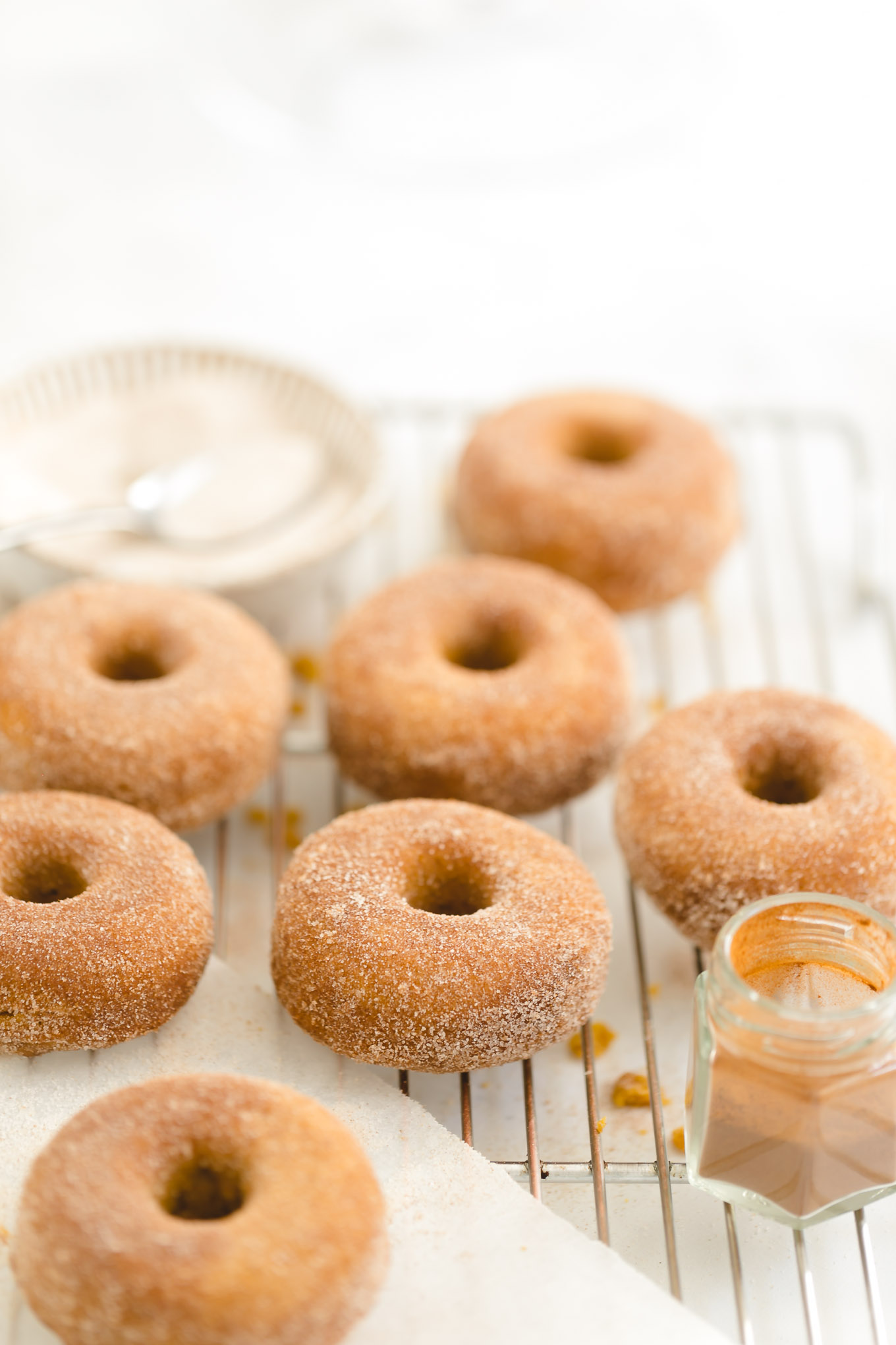 baked donuts with pumpkin
