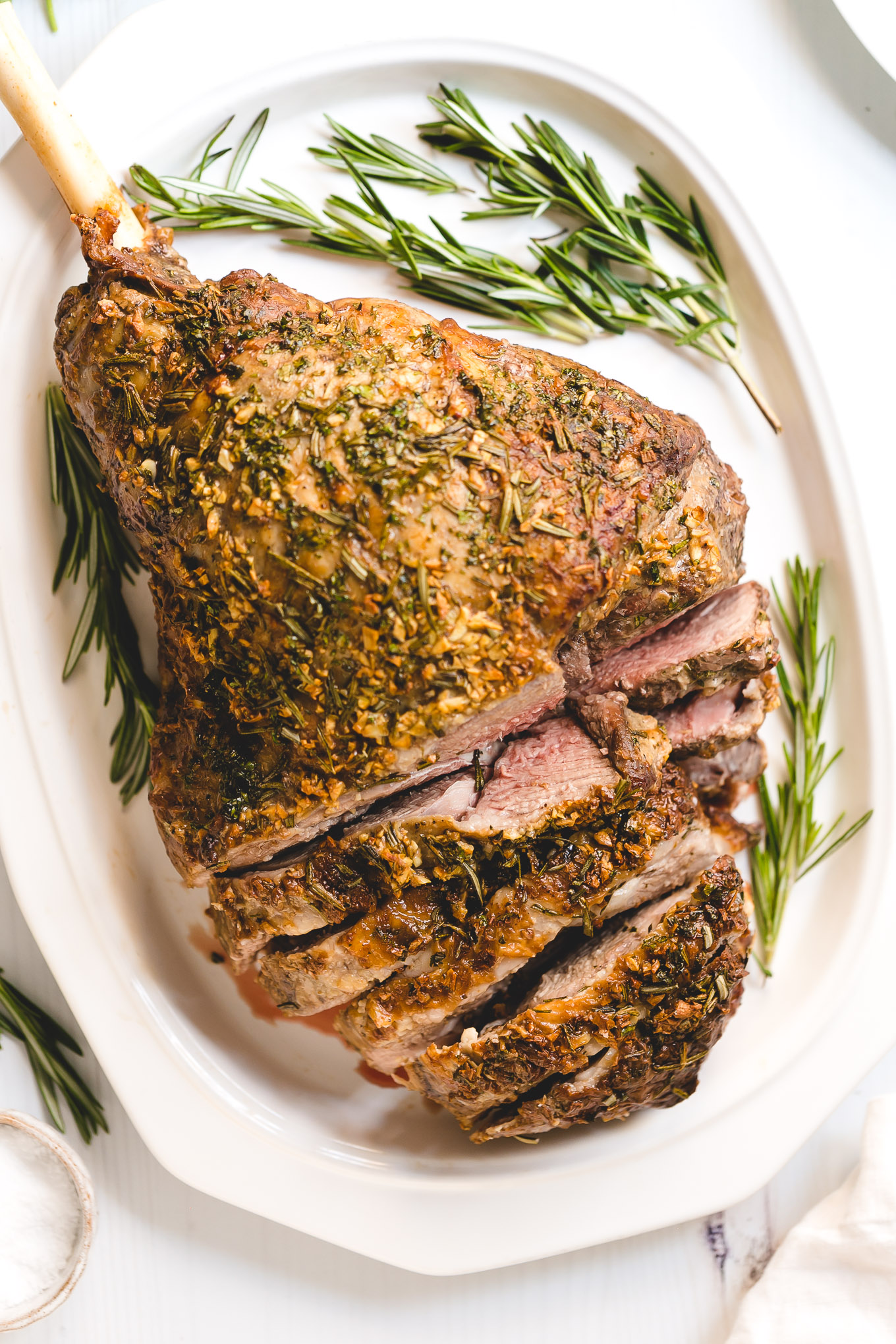 Garlic Herb Roasted Leg of Lamb – Andie Mitchell