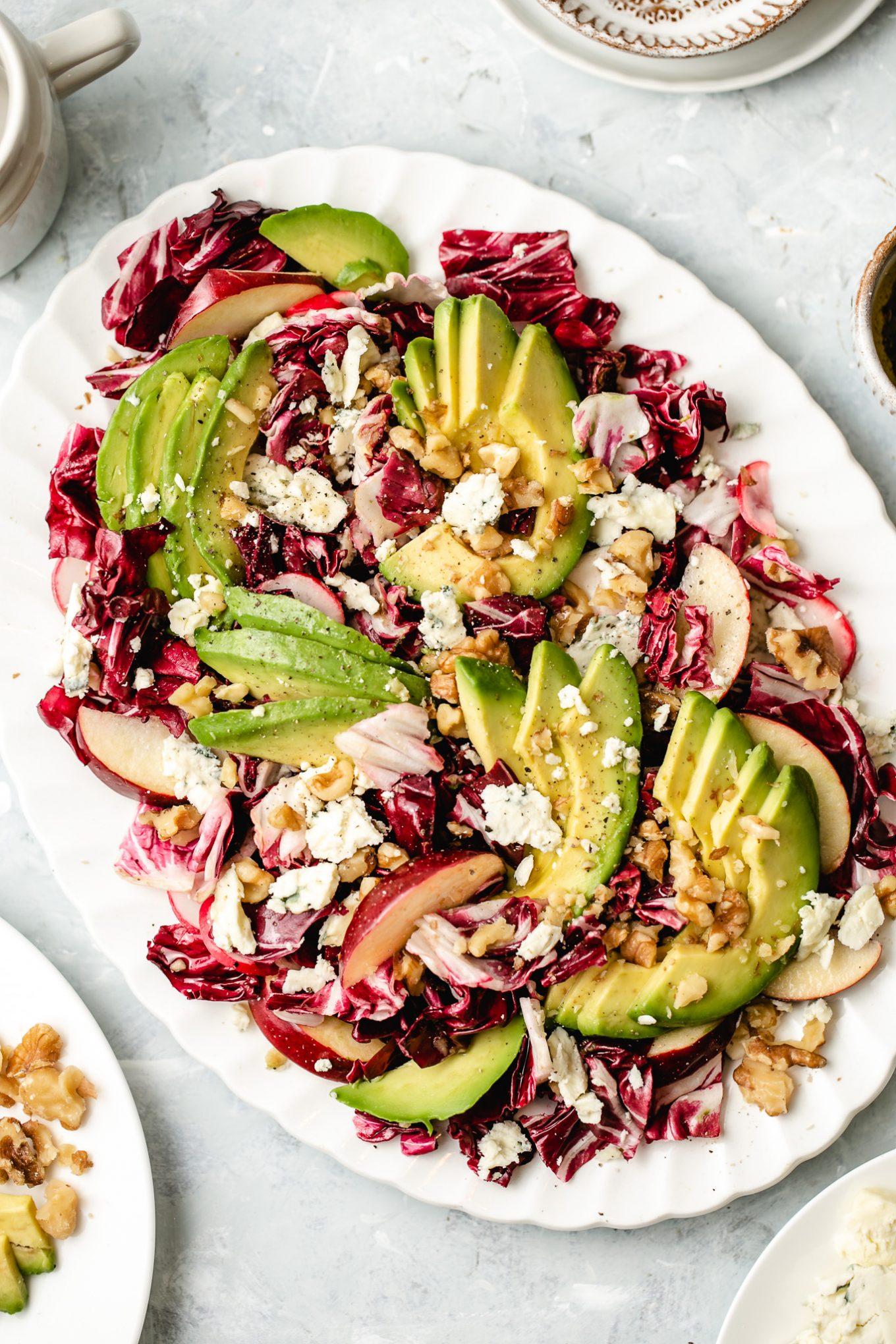 Radicchio Salad with Apple, Blue Cheese and Avocado