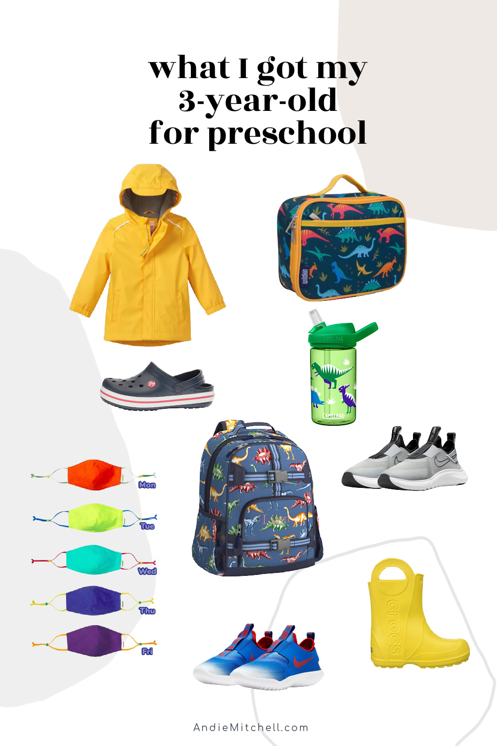 what I bought my 3 year old for preschool